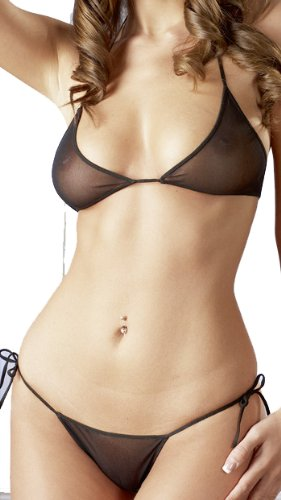 OV Cottelli Collection OV-Grosshandel Tüllbikini schwarz S-L Bikini