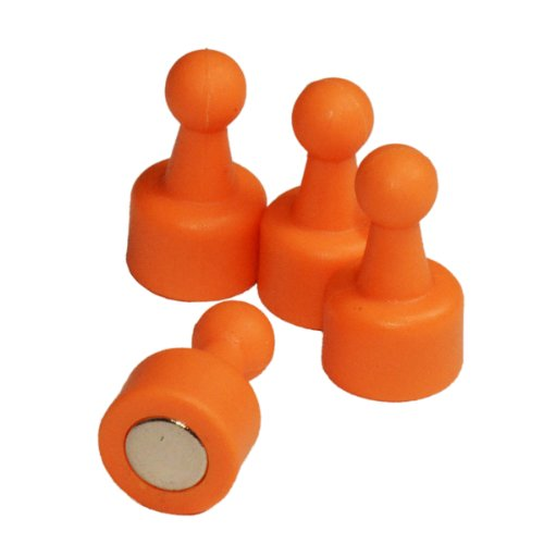 Cms Neopin® 24-Count Orange Magnetic Push Pins - Can Hold Up To 16 Pages Of 20 Lb Papers front-207721