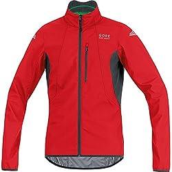 Gore Bike Wear Element Windstopper Active Shell - Chaqueta para hombre, color rojo / negro, talla M