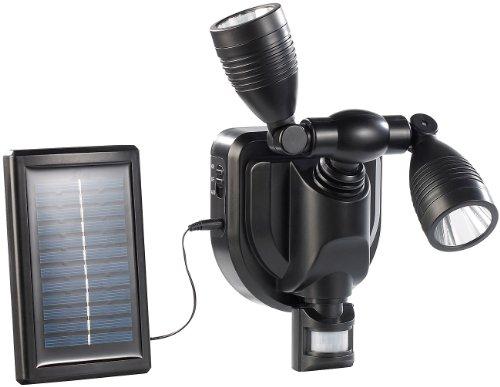 Lunartec-Duo-Solar-Auen-Wand-Strahler-CREE-LEDs-6-Watt-250-lm-PIR-schwarz