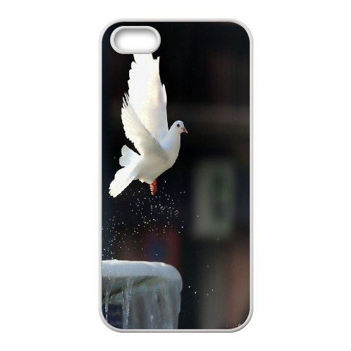 [H-DIY CASE] For Apple Iphone 5 5S -White Dove,Holy Spirit-Love Peace-CASE-16