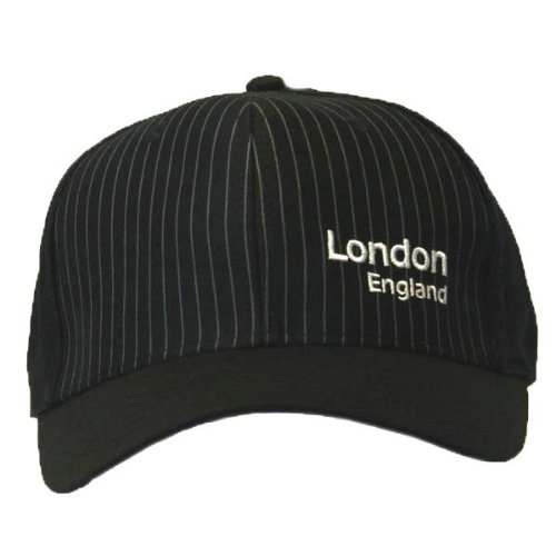 Mens London England Pin Stripe Embroidered Baseball Cap