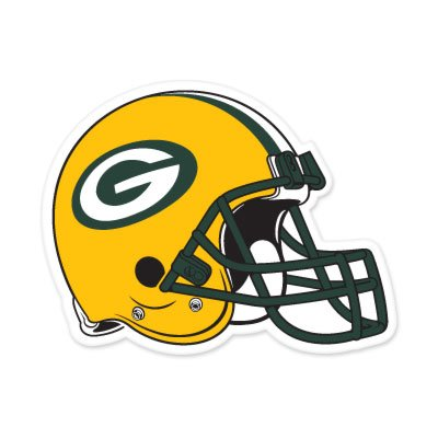 "Green Bay Packers NFL Large Sticker (12"" x 9"") Cornhole Wall Car by SportZone"