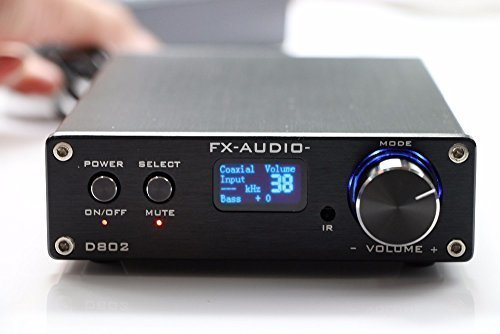 SainSonic FX Audio D802 2x80W 192KHz Digital Remote Power Amplifier with USB Cable (Black) by FeiXiang [並行輸入品]