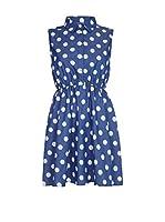 Iska Vestido (Azul / Blanco)