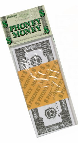 Forum Novelties Phoney Play Money $50 Bills (50-Pack)