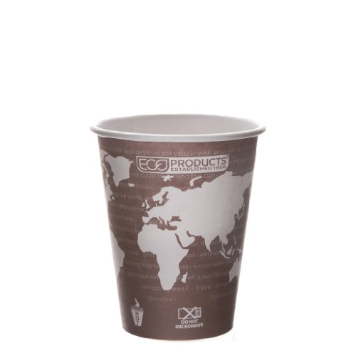 Eco-Products Ep-Bhc8-Wa 8 Oz World Art Hot Cup (20 Packs Of 50)