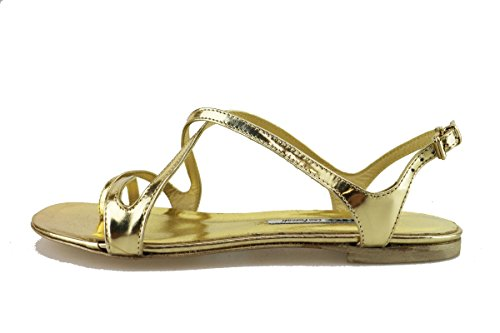 MANAS sandali donna 37 EU oro pelle lucida AH916