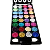 32 Color Design Neon Glitter &amp; Plain Eyeshadow Makeup Kit