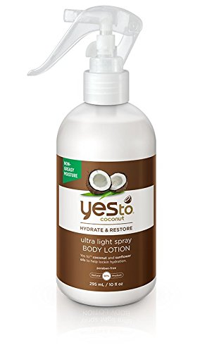 Yes To Coconut Hydrate & Restore Ultra Light Spray Body Lotion, 10 Ounce (Moisturizing Body Spray compare prices)