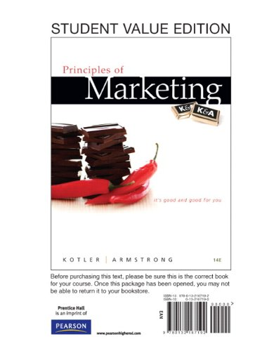 Principles of Marketing, Student Value Edition (14th...
