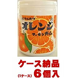 丸川製菓 オレンジマーブルガム ボトル×6