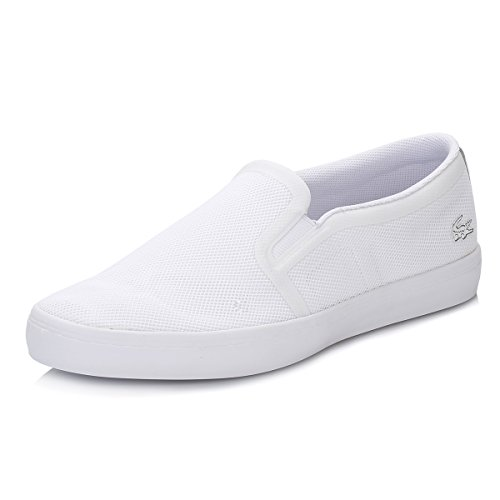 Lacoste Donna Bianco Gazon Slip On Sneaker-UK 8