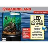 Marineland (Aquaria) AML11536 Glass Half Moon Shaped Aquarium with LED Lighting, 20-Gallon