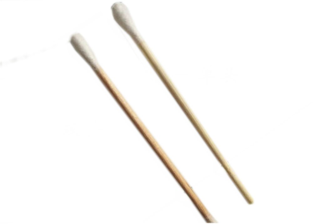 SE - Swab - Cotton, Birch Wood, 6in., 100 Pc/bag