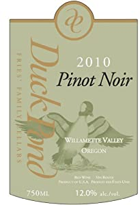 2010 Duck Pond Cellars Pinot Noir Willamette Valley Duck Pond Estate Vineyard 750 mL