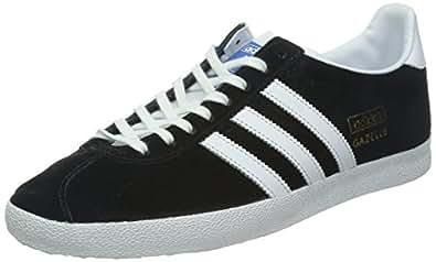 Adidas Originals Gazelle Og, Sneakers Basses Homme, Noir (Black 1/White/Metallic Gold), 42.6666666666667 EU
