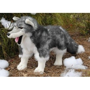 Timber Wolf (Standing Up) 28In Animal Puppet front-865557