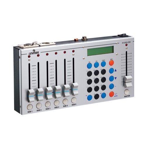 Leviton N1000-6 1000 Series Dmx/Scene Controller, 6 Sub-Masters And (1) Master, 512 Channels Of Control