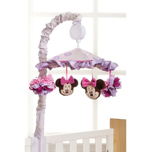Kidsline Butterfly Dreams Minnie Mouse Crib Baby Bedding (Musical Mobile) front-990302