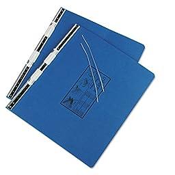 Pressboard Hanging Data Binder, 14-7/8 X 11, Unburst Sheets, Blue By: Universal