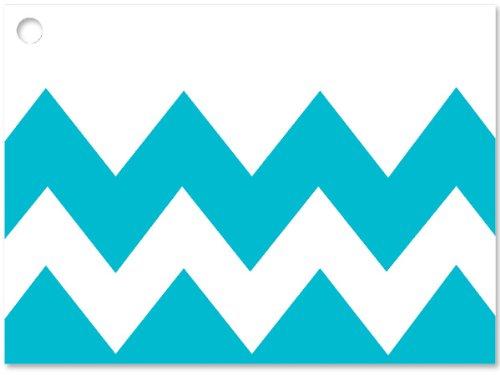 [해외]쉐브론 스트라이프 청록색 테마 기프트 카드 3-3 4x2-3 4 (30 개, 6 개 팩당)/Chevron Stripe Turquoise Theme GiftCards 3-3 4x2-3 4  (30 unit, 6 pack