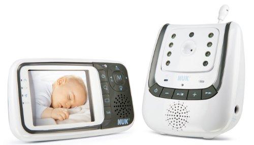 NUK 10256296 - Babyphone Eco Control+ Video, Full Eco Mode 100% frei von hochfrequenter Strahlung im Stand-by, Nachtsichtfunktion, Temperatursensor, Schlaflieder