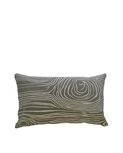 Wood Grain Rectangular Pillow, Green