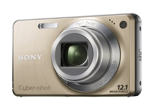 Sony Cyber-shot DSCW270N Digital Camera - Gold (12.1 MP, 5x Optical Zoom) 2.7 inch LCD