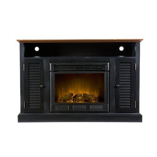 SEI AMZ5039E Harrington Media Black and Walnut Electric Fireplace picture B009LDYDS2.jpg