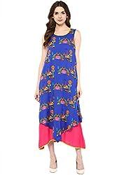 Akkriti by Pantaloons Women's A-Line Dress ( 205000005637748, Blue, X-Small)