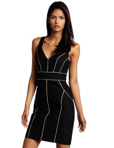 Trina Turk Womens Devon Dress, Ebony, 0