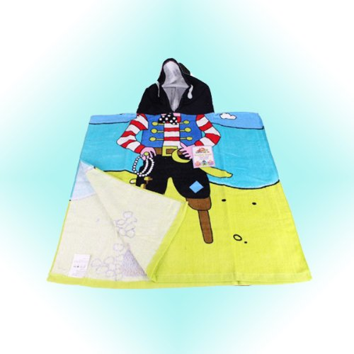 Kreative Kids Childrens / Boys / Girls Disney Character Hooded Poncho Towels - Bath Beach Pool (Pirate)