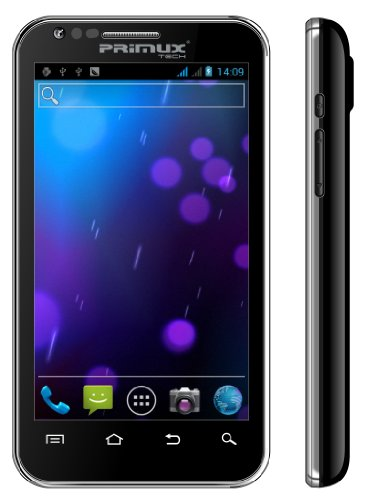 "Smartphone PRIMUX ALPHA 4.3"" DUAL SIM 1 GHz Dual-Core 4 GB Android 4.1 teléfono Jelly Bean y UMTS/3G - GPS - Wireless, Bluetooth - 5 Mpx. Ohne Vertrag"
