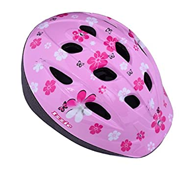 "Izzie Girls 12"" Wheel Pink Bike Dolly Seat, Stabilisers & Matching Helmet Age 3+ by AMMACO"
