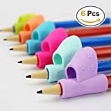 Pencil Grip,Warmtaste New Design Ergonomic Training Children Pencil Holder Pen Writing Aid Grip Posture Correction Tool 6PCS/Set (Color: 6 Colors)