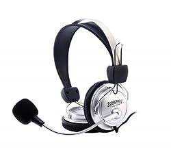 Zebronics 1000HMV Headphones with Mic (Silver)