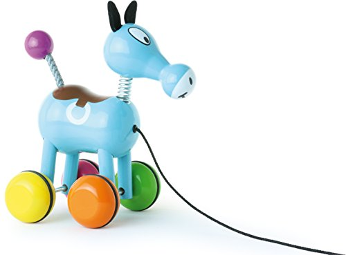 Vilac Push and Pull Baby Toy, Roudoudou The Horse