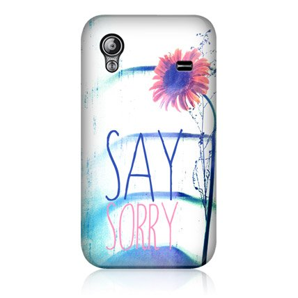 Head Case Say Sorry Positive Vibe Design Back Case For Samsung Galaxy Ace S5830