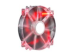 Cooler Master MegaFlow 200mm Red LED Computer Case Fan (R4-LUS-07AR-GP)