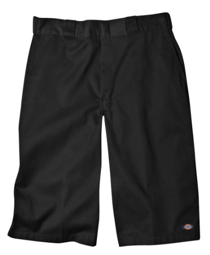 Dickies Men's 15 Inch Inseam Work Short With Multi Use Pocket, Black, 34