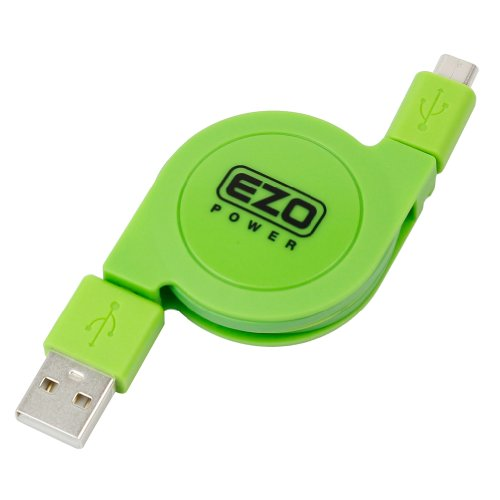 Ezopower 3Ft High Speed Retractable Sync & Charge Micro-Usb Data Cable (Green)