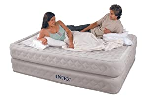 Intex Supreme Air-Flow Queen Airbed Nylon Flocked with Built-in Electric Pump by Intex