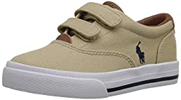 Polo Ralph Lauren Kids Vaughn II EZ Fashion Sneaker (Toddler), Khaki, 9 M US Toddler