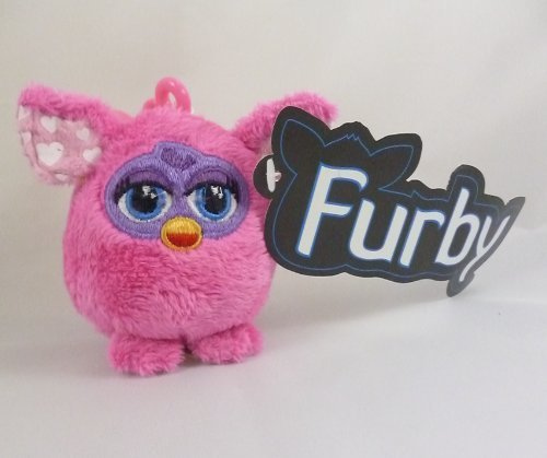 Whitehouse Leisure 9cm Baby Pink Furby Soft Plush Toy Keychain Age 10 Months Plus (k13)