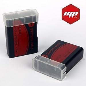 2 x batteries ENEL14 EN-EL14 MP EXTRA ® pour Nikon