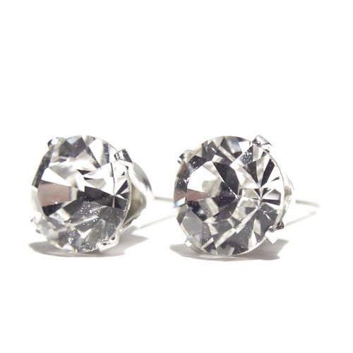 925 Sterling Silver Stud Earrings set with Swarovski Crystal Stones. Gift Box. Beautiful jewellery for very special people.