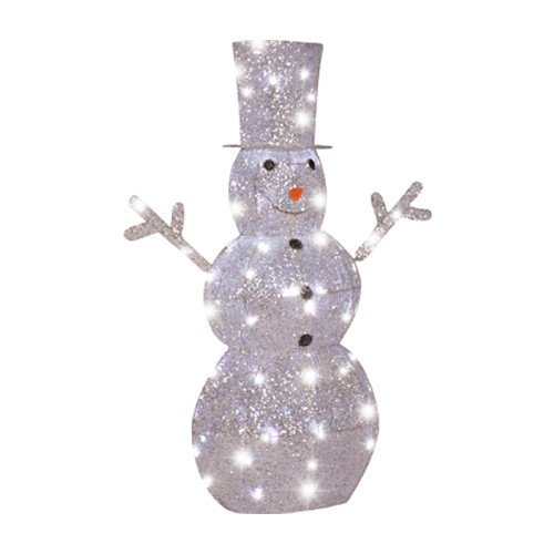 Lighted Snowman Christmas Lawn Yard Decoration| Glittering Snowflakes| Energy-Efficient Led Lights front-93292