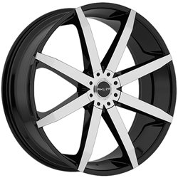 Akuza 843 Zenith 20×8.5 Black and Machined Wheel / 5x115mm 5x120mm / 20mm Offset / 74.1mm Hub Bore