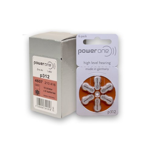 PowerOne Size 312 Hearing Aid Batteries (120) (Power One 312 Batteries compare prices)